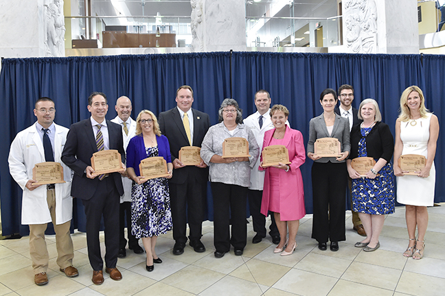 Recipients of the Dean's Awards with Dr. Clay Marsh