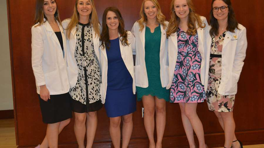 Medical students at White Coat Ceremony.
