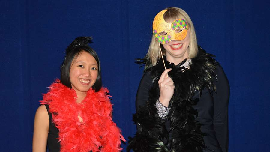 Fun in the photo booth at the Snowball Dance.