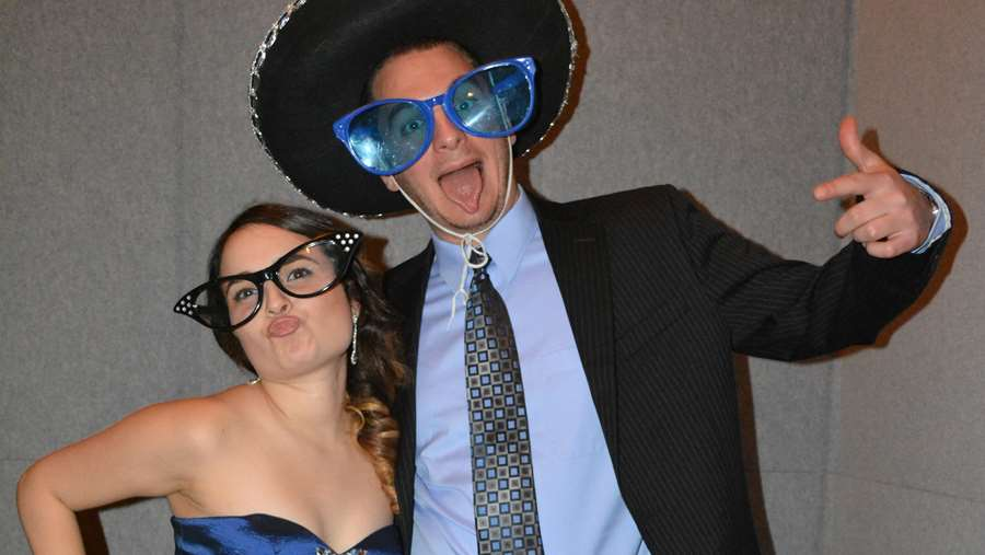 Photo booth fun at the Snowball Dance