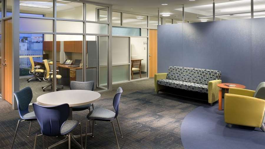 Lounge in Erma Byrd Biomedical Research Center