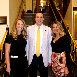 Kristen McDonald and Alexis Dunn with Dr. Ralph Utzman