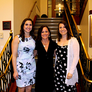 Stephanie Magnone and Leigh Comerci with Dr. Tracy Rice