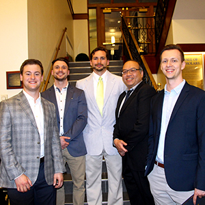 Andrew Wright, Kyle Blair, Logan Kaptis, and Jacob Keeting with Dr. YuJen Chang